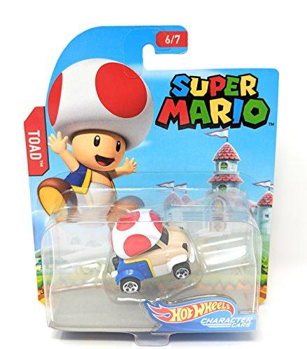 Hot Wheels Super Mario Character Cars Toad Vehicle 6/7 ()