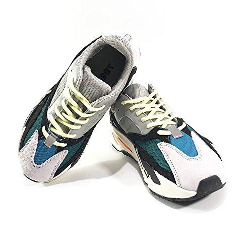706 Series (JessicaKK Fashion Sneaker 706 Series Wave Runner KW Running Shoes - chalk White/Black)
