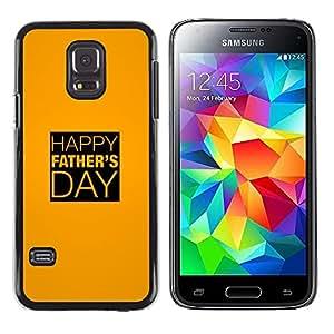 iKiki Tech / Estuche rígido - Day Gold Yellow Text Holiday - Samsung Galaxy S5 Mini, SM-G800, NOT S5 REGULAR!