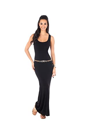 PG by Paris Gordon Womens Long Tank Dress Small Black