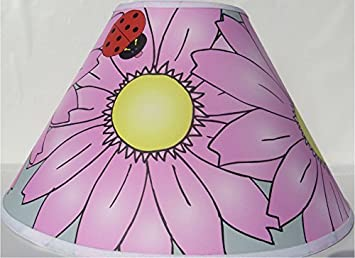 Amazon pink gerber daisy flower lamp shade ladybug lamp pink gerber daisy flower lamp shade ladybug lamp shade mightylinksfo