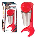 Global Gizmos 52640 Milkshake Maker Smoothie Mixes Cocktails with 12 oz Aluminium Cup, Red