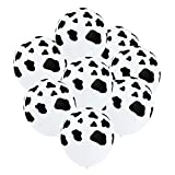 WISWIS 100 Pieces 12 Inches Farm Animal Childrens Birthday Party Supplies Cow Print Latex Balloon Latex Balloons Black and White for Children's Birthday Home Craft Decoration