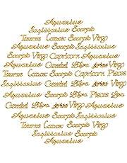 OLYCRAFT 96 قطعة كوكبة راتنج الحشو زودياك علامة الراتنج الحشو، كوكبة سحر الكلمة رسالة قلادة إيبوكسي الراتنج اللوازم ملء الملحقات لصياغة الراتنج وصناعة المجوهرات