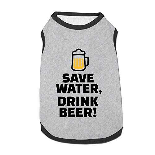 Dog T-Shirt Clothes Save Water Drink Beer Doggy Puppy Tank Top Pet Cat Coats Outfit Jumpsuit -