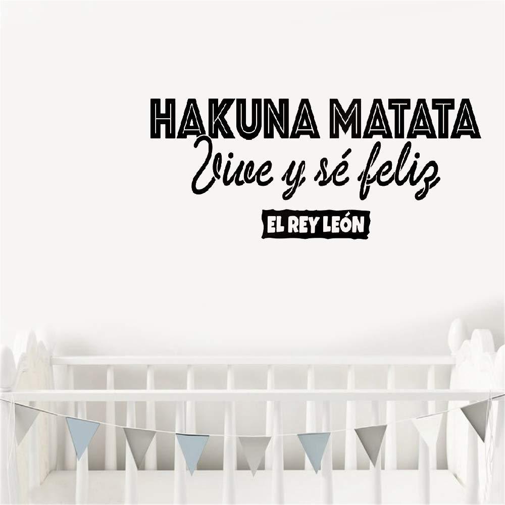 etiqueta de la pared Calcomanía de citas en español Hakuna Matata ...