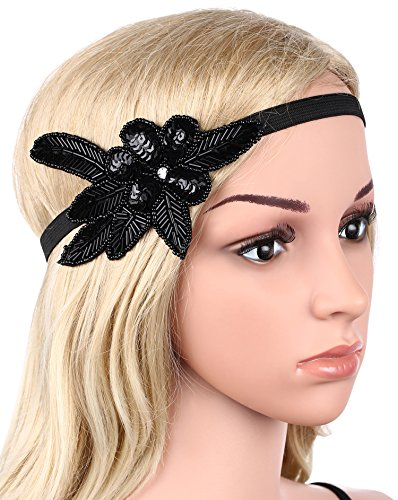 [BABEYOND Women's 1920 Headpiece Flapper Headpiece 1920s Gatsby Vintage Headbands Flapper Headband] (Flappers 1920)