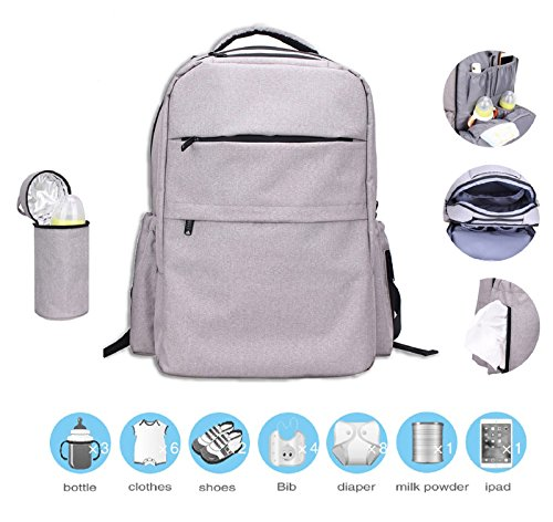 Diaper Bag Baby Care Backpack, Multi-Function T...