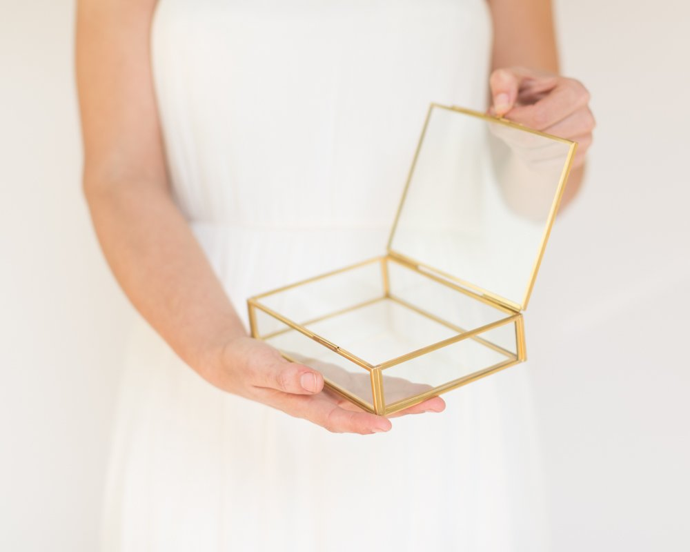The Queen of Crowns Glass Photo Box, Proof Box, Glass Shadow Box, Gold Glass Box (4x6) by The Queen of Crowns (Image #4)