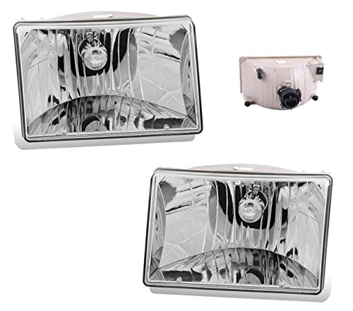 SPPC Headlights Crystal Assembly for Jeep Grand Cherokee -(Pair) Includes Passenger and Driver Side Replacement Headlamp Clear Lenses - Jeep Cherokee Crystal
