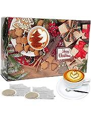 """C&T Koffie Adventskalender """"Bio/Fair"""" (koffiepads) 2021 met 24 biologische, zeldzame en fairtrade koffies van over de hele wereld plus een gratis verrassing in de kalender   Kerstkalender"""