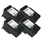 NUINKO 4 Pack Remanufactured Canon PG-240XL Ink Cartridge Black for Canon PIXMA MG3220 PIXMA MG3520 PIXMA MX452 PIXMA MG2220 PIXMA MG3222 PIXMA MX472 PIXMA MG2120 PIXMA MX522 PIXMA MX459 PIXMA MG3522 PIXMA MX432 PIXMA MX512 PIXMA MG3122 PIXMA MX392 PIXMA MG4220 PIXMA MG3120 PIXMA MX532 PIXMA MX479 Inkjet Printers