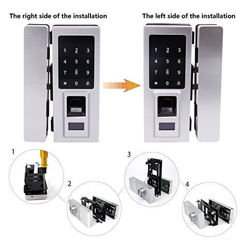Security Biometric Fingerprint Door Lock for Glass Door, Free Punching,Supporting Double Open-Door and Single Open-door by Porlik (Image #6)