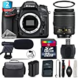 Holiday Saving Bundle for D7100 DSLR Camera + AF-P 18-55mm + 2yr Extended Warranty + 32GB Class 10 Memory Card + Case + UV Filter + Cleaning Kit + Cleaning Brush - International Version