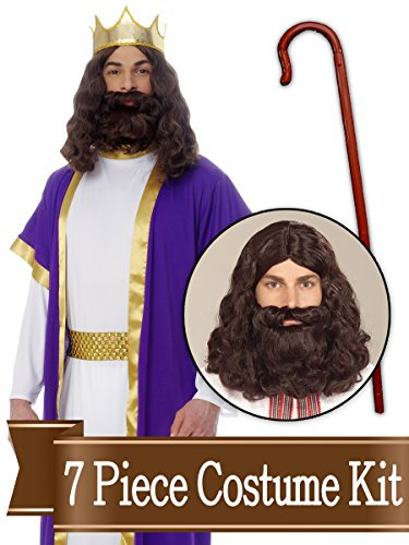 BirthdayExpress Wiseman Biblical Easter Nativity Adult Costume Kit - X Large