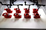 3/4'' Wood Gluing Pipe Clamp Set Heavy Duty PRO Woodworking Cast Iron New FOUR