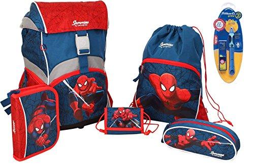Sammies Ergonomic Schulranzen-Set 6-tlg Marvel Spiderman + Griffix 2 11 spiderman hero