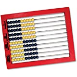 Learning Resources 2-Color Desktop Abacus, Red Frame