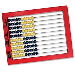 Learning Resources 2-Color Desktop Abacus, Red Frame
