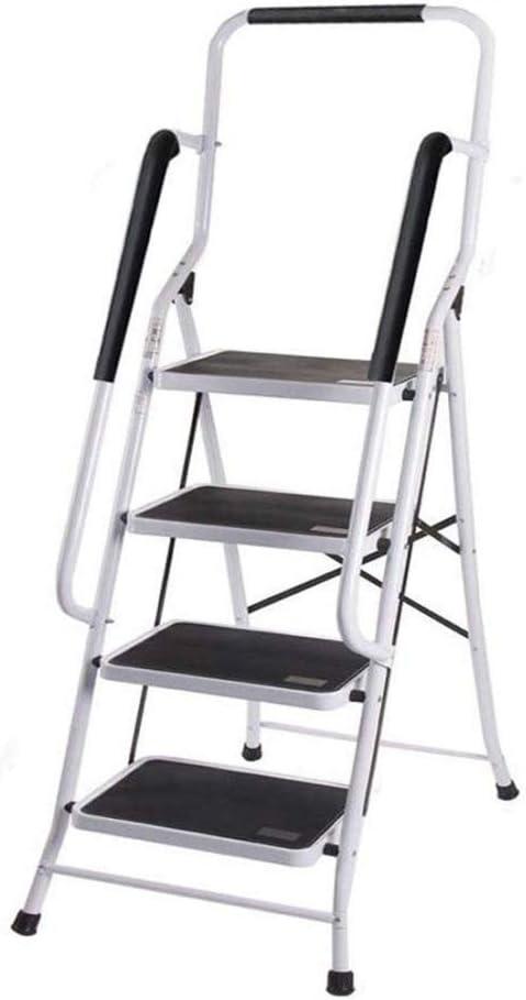 Escalera De Acero De 4 Peldaños Escalera De Mano Antideslizante Plegable Resistente De Alta Resistencia con Barandilla De Seguridad Capacidad De Carga De 150 Kg,Telescopic Ladder(2.6m): Amazon.es: Hogar