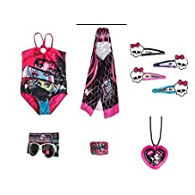 Monster High Swimsuit, Hooded Towel and Accessories Set