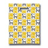 Practicon 11096102 Modern Molar Art Scatter Print Bags, 8'' x 10'' (Pack of 100)