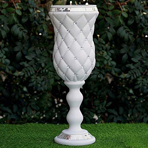 Crystal Bead White Wedding French Columns Mirror Mosaic Deco YSefa by YSefa (Image #1)