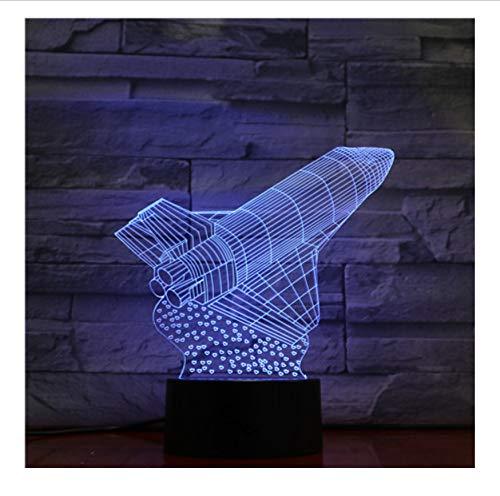 Ilusi/ón /Óptica Luz De La Noche Transbordador Espacial Modelo Led Usb L/ámpara De Ilusi/ón 3D Ni/ños Ni/ño Ni/ños Beb/é Regalo L/ámpara De Mesa Mesita De Noche Acr/ílico
