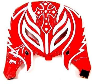 REY MYSTERIO (rojo y blanco media máscara) - tamaño de lucha libre WWE niño