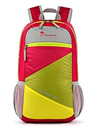 Ai&M Mountaintop colorful Hiking Climbing folding Backpack 25L