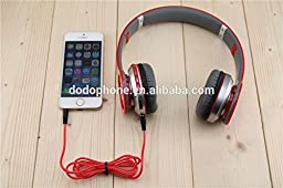 Bluetooth Waterproof Headphones Foldable Wireless Stereo with SD Card Slot FM (Similar to Beats Solos)(Red)