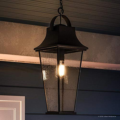 Luxury Tudor Outdoor Pendant Light, Large Size: 24