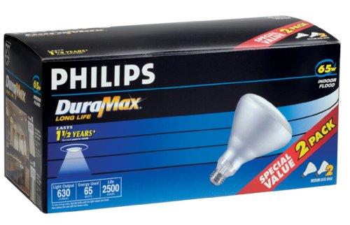 046677139278 - Philips 139279 Soft White 65-Watt BR40 Indoor Flood Light Bulb, 2-Pack carousel main 3