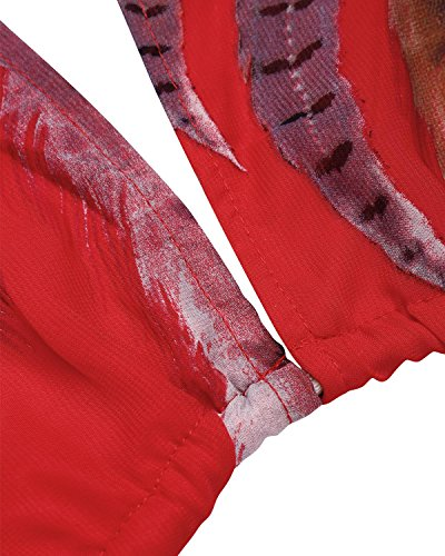 BIUBIU Women's Boho Chiffon Halter Summer Beach Party Cover up Dress Red L by BIUBIU (Image #4)