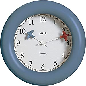alessi kitchen wall clock blue 10 home
