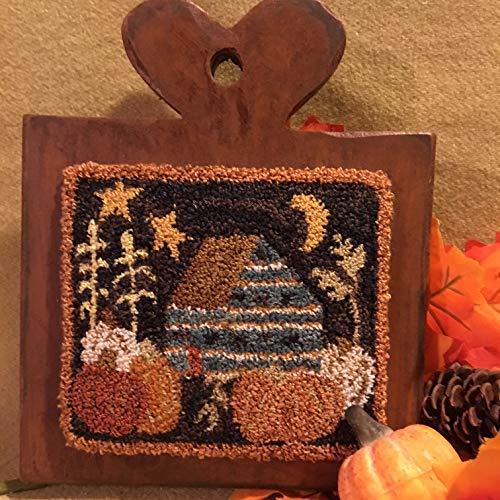 Punch Needle Embroidery PUMPKIN HARVEST Paddle