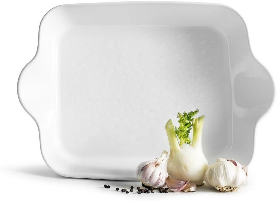 Sagaform SA5017728 Oven Rectangular White Piccadilly Square Dish Ovensafe Stoneware