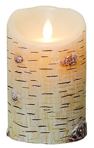Luminara Birch Textured LED Pillar Candle