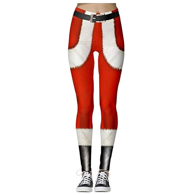 FELZ Leggins Mujer Fitness Push Up Cintura Alta Navidad Leggins ...