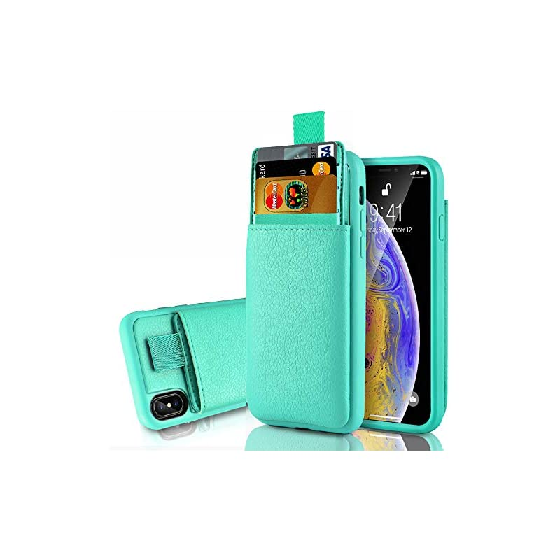LAMEEKU Wallet Case for Apple iPhone Xs