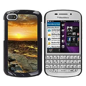 EJOY---Cubierta de la caja de protección la piel dura para el ** BlackBerry Q10 ** --Puesta del sol del desierto Paisaje