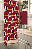 Northwest 1NFL903000020RET NFL Washington Redskins Shower Curtain Football Team Logo Bath Accessory NFL 903 Redskins Shower Curtain