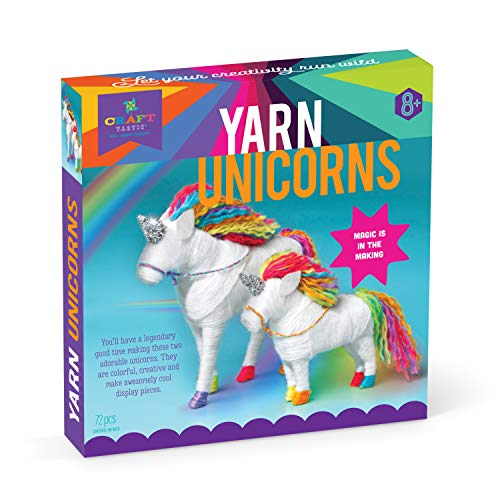 (Craft-tastic - Yarn Unicorns Kit - Craft Kit Makes 2 Yarn-Wrapped Unicorns)