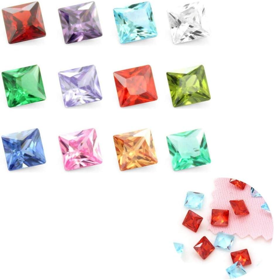 NUOBESTY Doce piedras preciosas durables en color brillante cumpleaños decorado de piedra decorativa fiesta temática