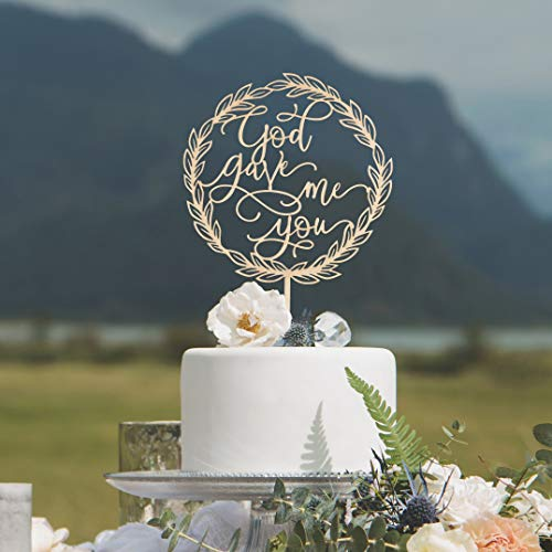(659ParkerRob God Gave Me You Cake Topper Wedding Cake Topper Cake Topper for Baptisms Religious Cake Topper s and Decorations)