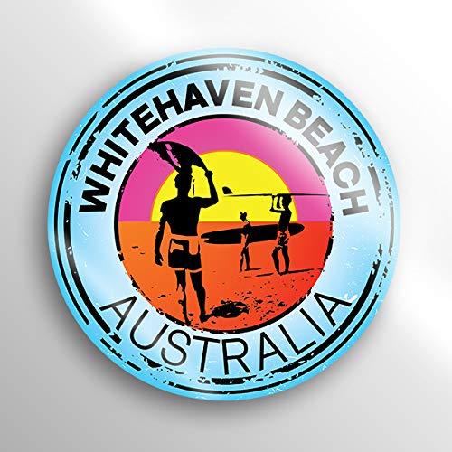 (2-Pack Whitehaven Beach Australia Decal Sticker |3-inch Round | Premium Quality Vinyl Sticker | UV Protective Laminate | PD1545)