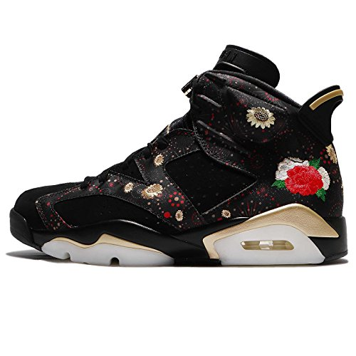 Jordan Men's Air 6 Retro CNY, Black/Metallic Gold-Multi, 10.5 M US by Jordan