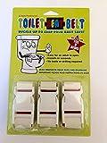 Toilet Lock - (3 Pack) -'Toilet-Seat-Belt'- Baby Toilet Lock- With 'EZ Baby Proofing' Book