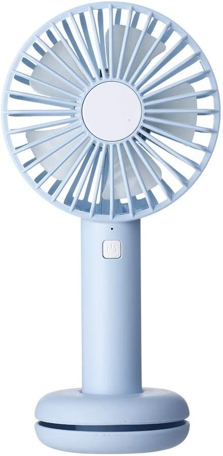 Color : Blue, Size : One Size MDYYD Mini USB Table Desk Personal Fan Donut Night Light Fan Handheld Portable Foldable USB Rechargeable Strong Wind,Quiet Operation,for Home Office.