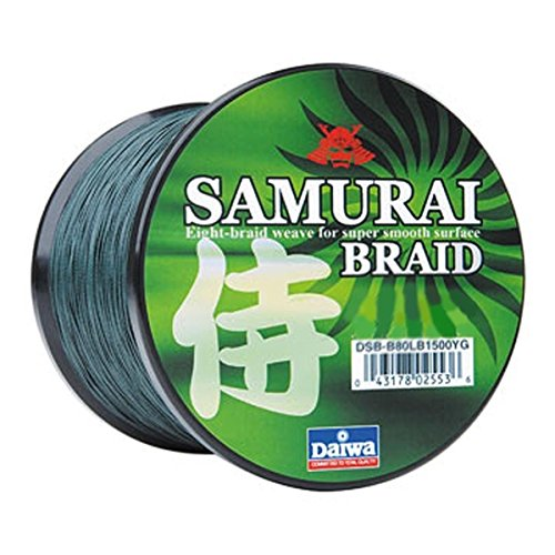 - Daiwa DSB-B15LB150YG Samurai Braid Filler Spool, 15 lb/150 yd, Green